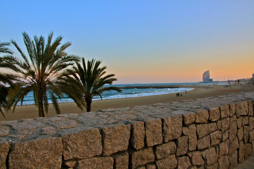 пляжи в Барселоне